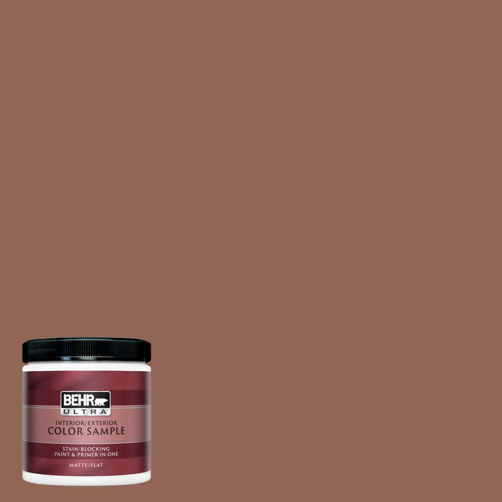 Behr Ultra 8 Oz S190 6 Rio Rust Matte Interior Exterior Paint And Primer In One Sample