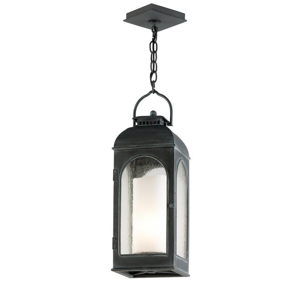Troy Lighting Derby 1-Light Antique Iron Outdoor Pendant