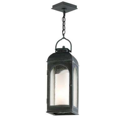 Derby 1-Light Antique Iron Outdoor Pendant