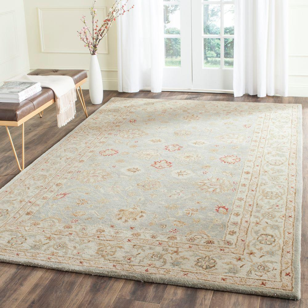 Safavieh Antiquity Grey Blue Beige 6 Ft X 9 Ft Area Rug