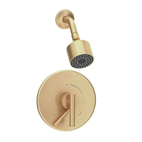 Dia Single Handle Wall-Mounted Shower Trim Kit with Volume Control in Brushed Bronze - 1.5 GPM (Valve not Included)