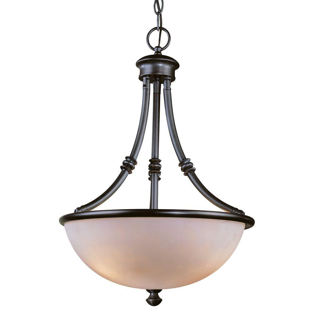 Stanton Hills 3-Light Sable Bronze Patina Bowl Pendant