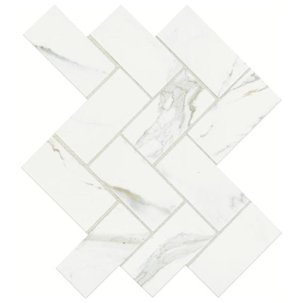 Marazzi Developed By Nature Calacatta 12 In X 14 In X 6 Mm Ceramic Mosaic Floor And Wall Tile 0 67 Sq Ft Piece Dn1124herrhd1p2 The Home Depot