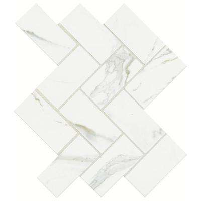 Developed by Nature Calacatta 12 in  x 14 in  x 6 mm Glazed Ceramic. Mosaic Tile   Tile   The Home Depot