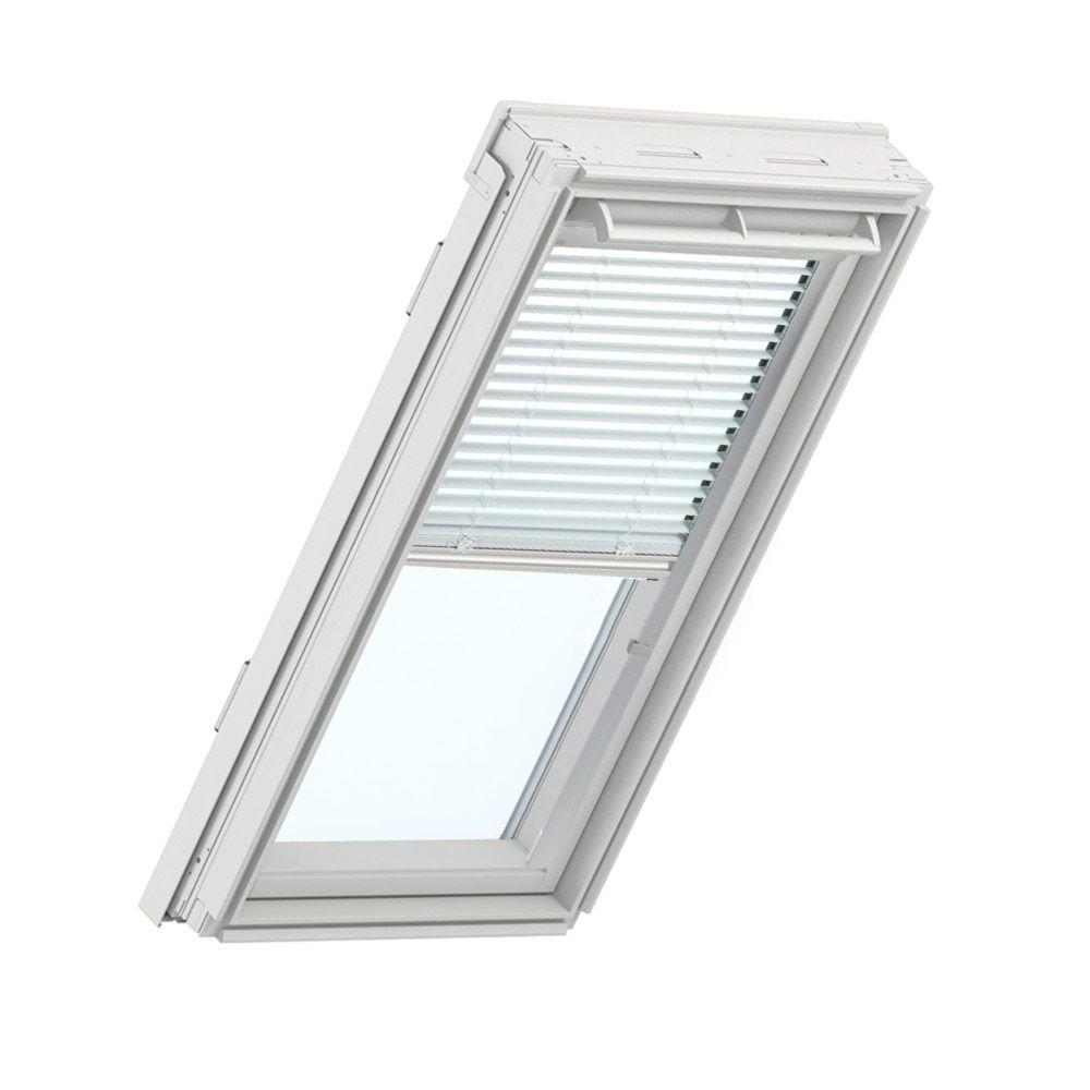 Velux white manual venetian skylight blinds for gpu uk08 for Velux solar blinds installation instructions