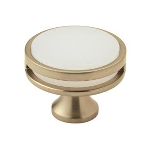 Oberon 1-3/4 in (44 mm) Diameter Golden Champagne/Frosted Cabinet Knob