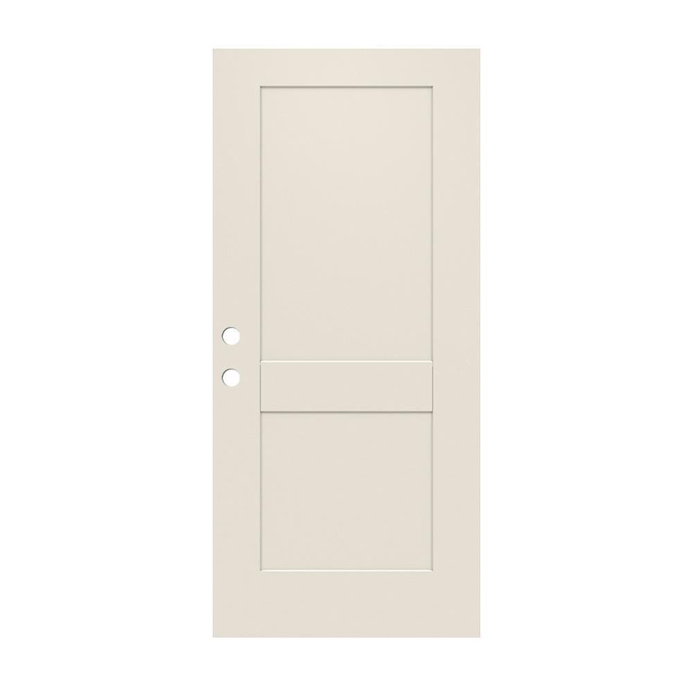2 Panel Craftsman Primed Steel Front Door Slab THDJW166100390   The Home  Depot