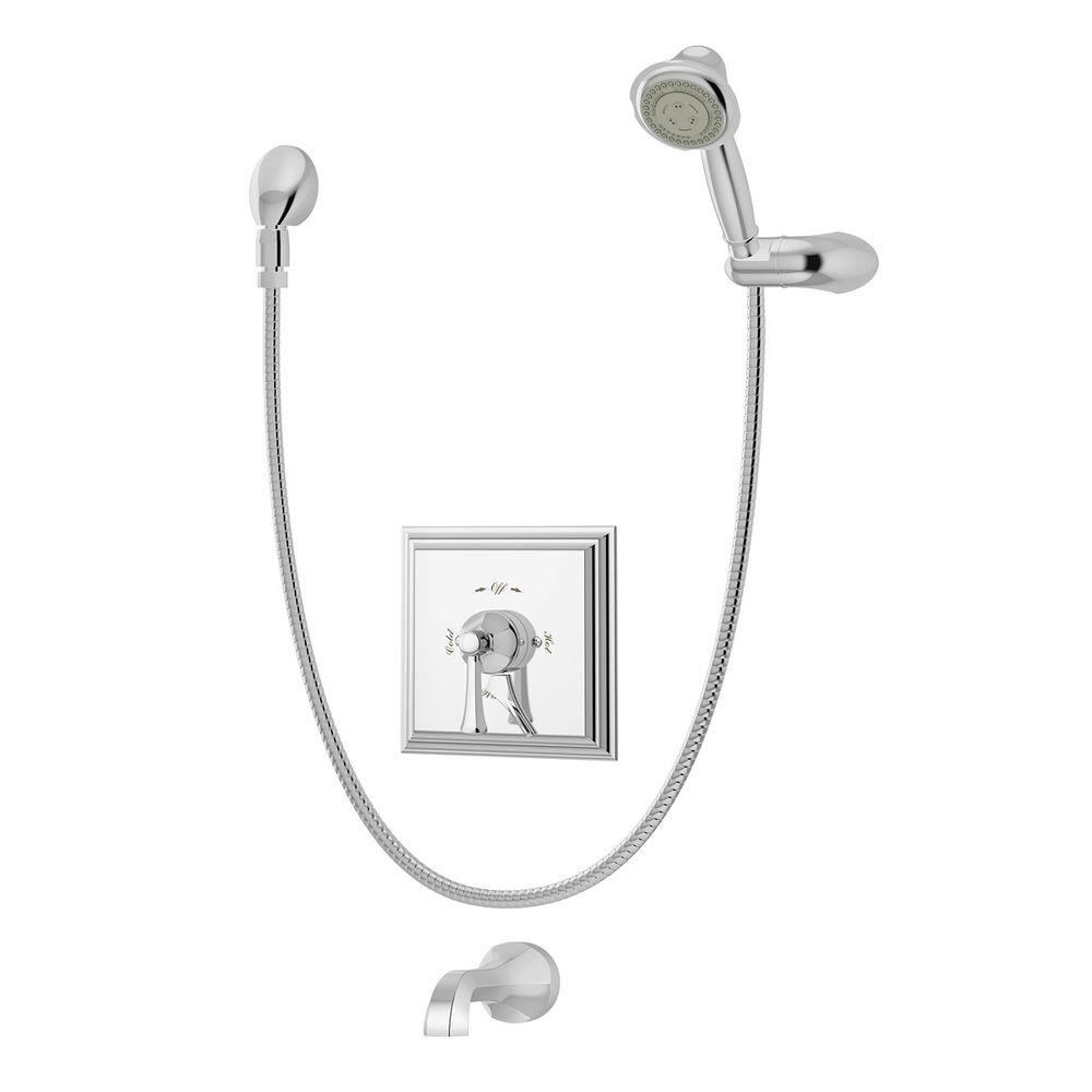 Symmons Canterbury 1-Handle with Integrated Diverter Tub ...