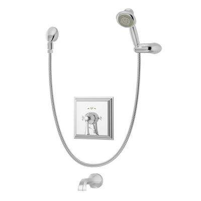 Canterbury 1-Handle with Integrated Diverter Tub and Shower Faucet Trim Kit in Chrome (Valve Not Included)