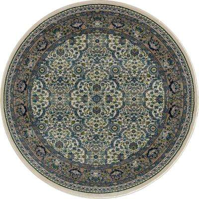 Dexter Florence Cream 8 ft. x 8 ft. Round Area Rug