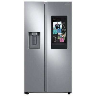 26.7 cu. ft. Family Hub Side by Side Smart Refrigerator in Fingerprint Resistant Stainless Steel