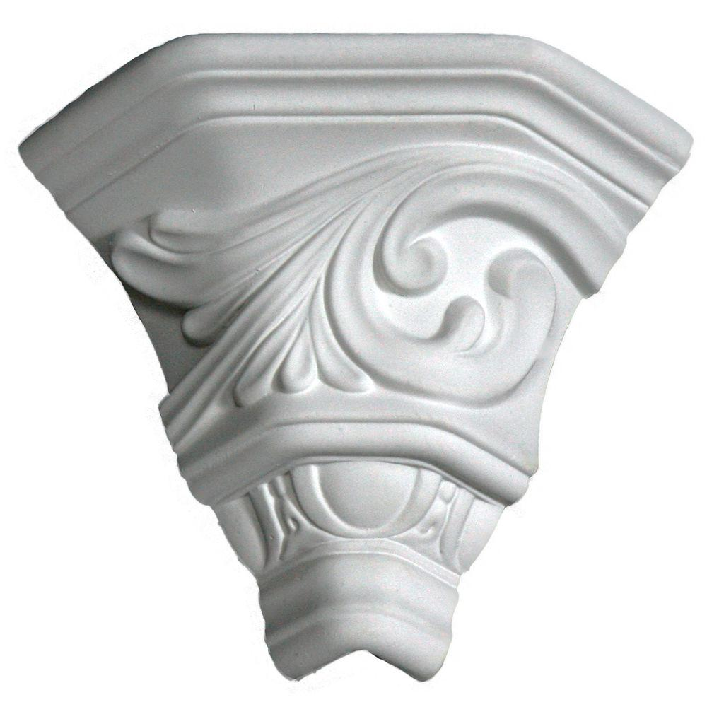 Lynea Molding Wave Collection 8 in. Polyurethane Crown Outside Corner-DISCONTINUED
