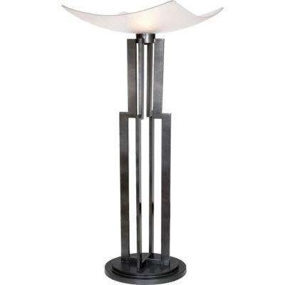 Century 74 in. Weathered Steel Torchiere Lamp