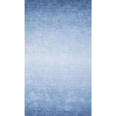 Ombre Bernetta Blue 7 ft. 6 in. x 9 ft. 6 in. Area Rug