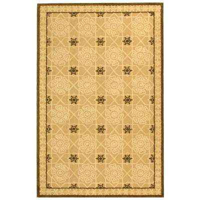 Newport Creme/Ivory 5 ft. 6 in. x 8 ft. 6 in. Area Rug