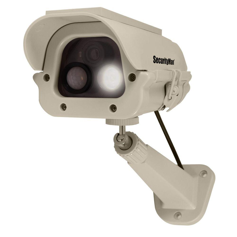 Securityman spotlight dummy camera with solar panel and pir body securityman spotlight dummy camera with solar panel and pir body heat motion sensor publicscrutiny