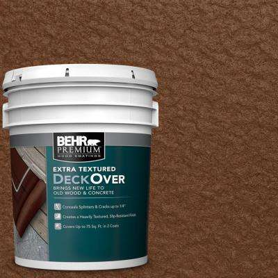 5 gal. #SC-110 Chestnut Extra Textured Solid Color Exterior Wood and Concrete Coating