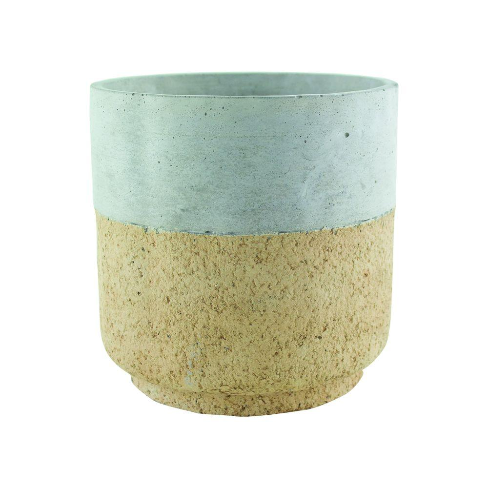 Modern Cork 6-7/8 in. Concrete Cylinder Planter