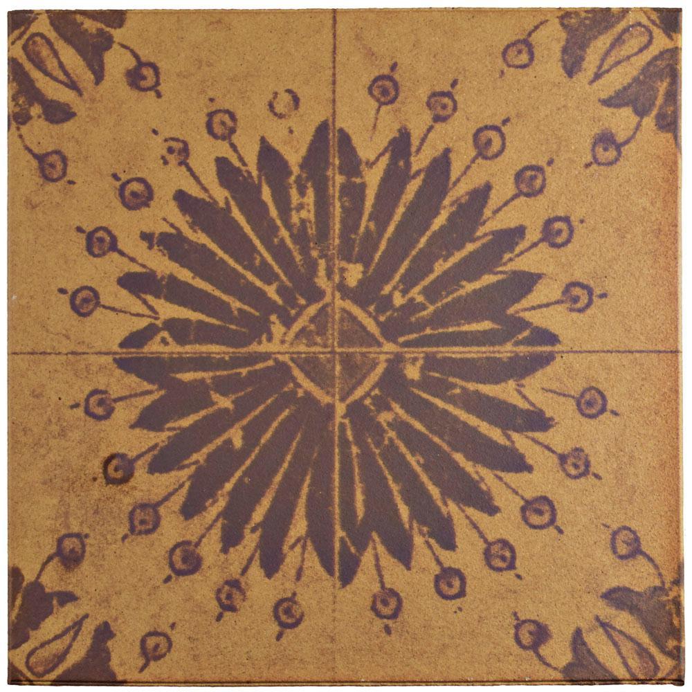 Klinker Retro Rojo Aster 12-3/4 in. x 12-3/4 in. Ceramic Floor