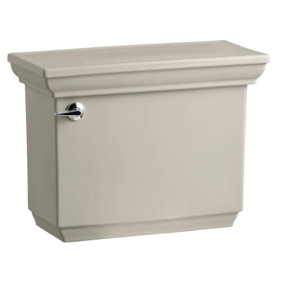 Memoirs 1.28 GPF Single Flush Toilet Tank Only with AquaPiston Flush Technology in Sandbar