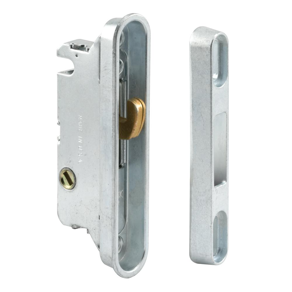 Prime-Line 3-9/16 in., Steel, Mortise Lock and Keeper