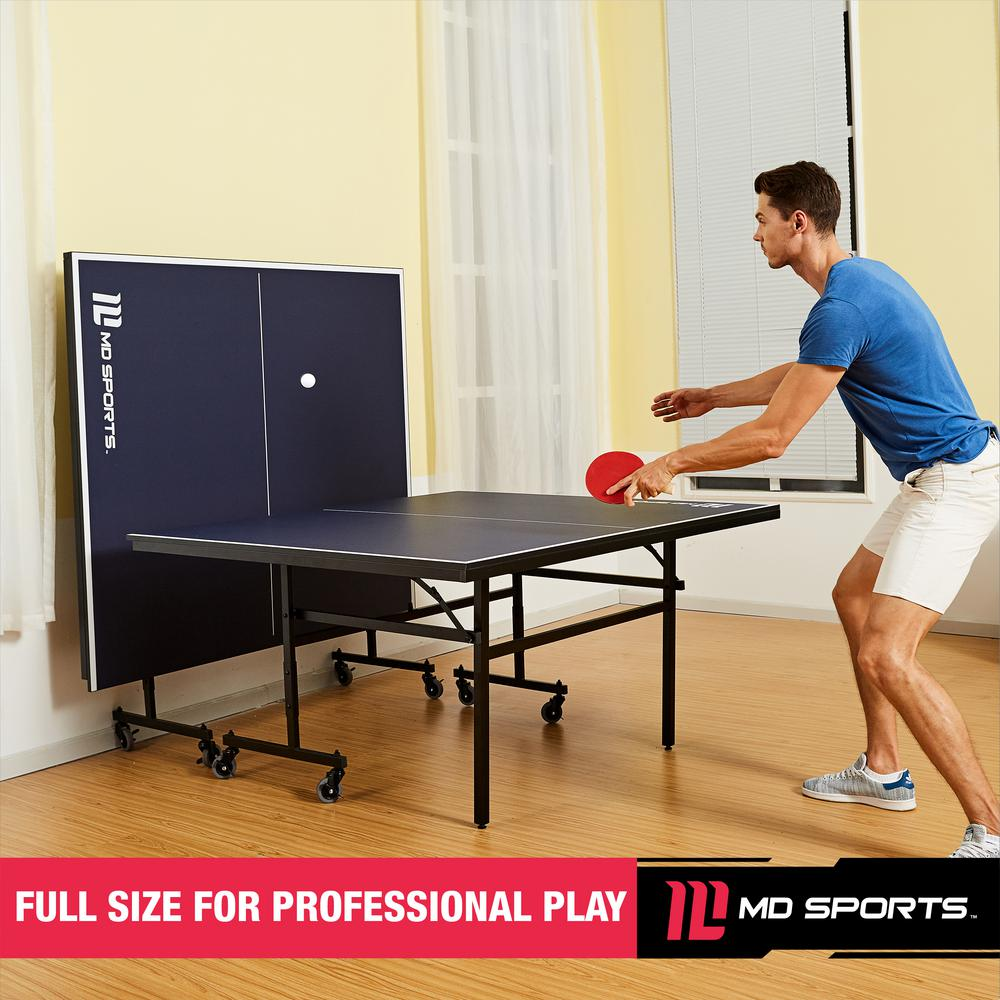 Md Sports Official Size Quick Assembly Table Tennis Table