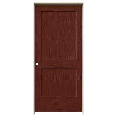 36 in. x 80 in. Monroe Black Cherry Stain Right-Hand Solid Core Molded Composite MDF Single Prehung Interior Door