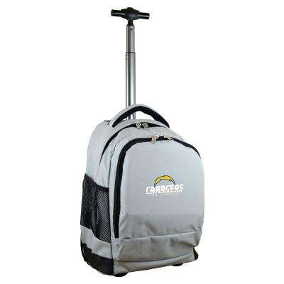 NFL Los Angeles Chargers 19 in. Gray Wheeled Premium Backpack