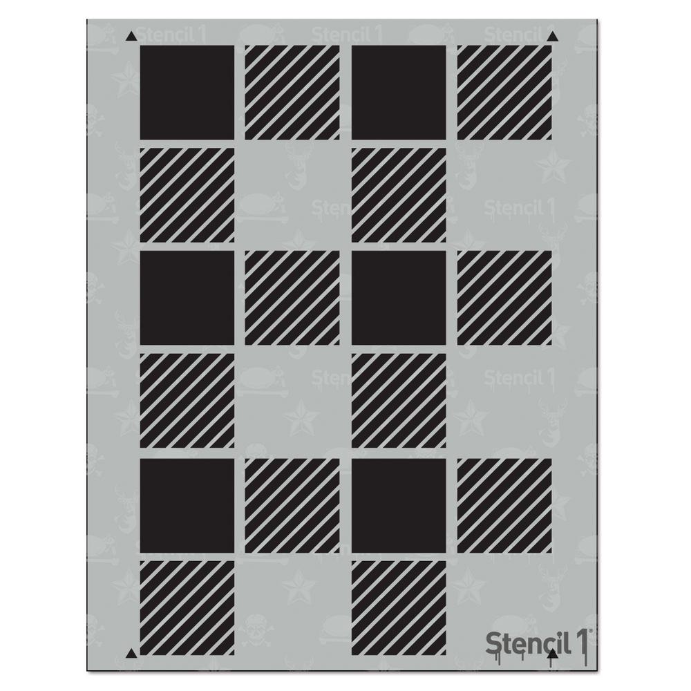 Stencil1 Plaid Medium Repeat Pattern Stencil S1 Pa 39