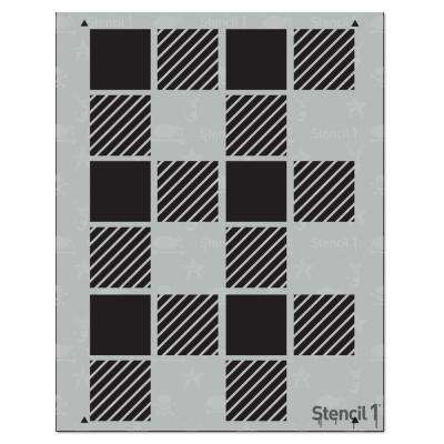 Plaid Medium Repeat Pattern Stencil