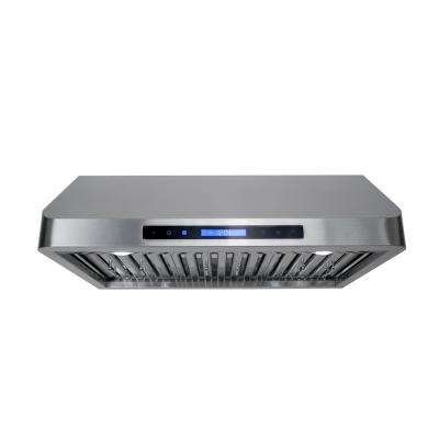 30 in. Ducted Under Cabinet Range Hood in Stainless Steel with Touch Display, LED Lighting and Permanent Filters