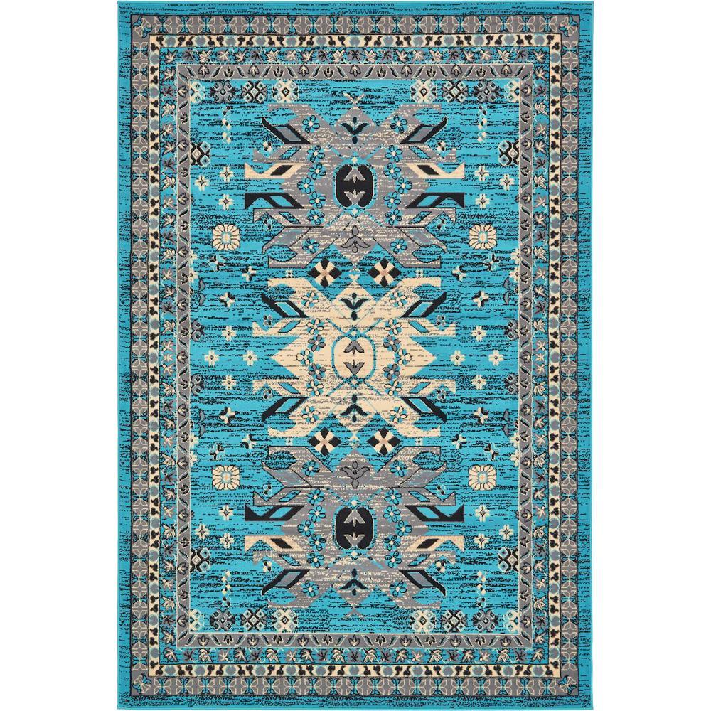 Taftan Oasis Turquoise 6' 0 x 9' 0 Area Rug