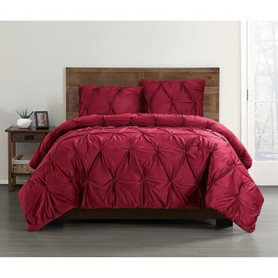 Everyday 3-Piece Red Full/Queen Duvet Cover Set