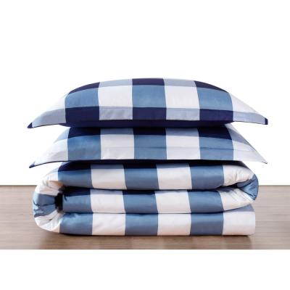 Buffalo 1-Piece Navy and White Twin XL Comforter Set