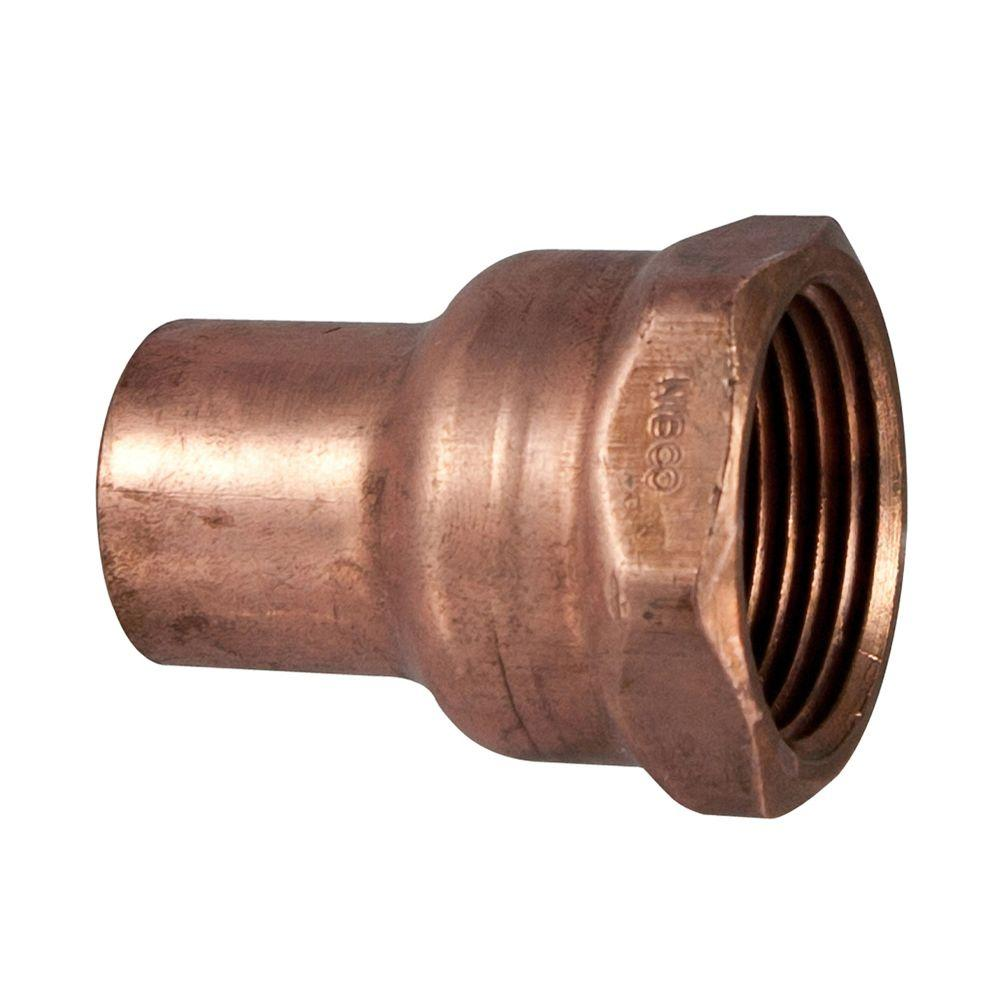 1/2 in. x 3/4 in. Copper Pressure Cup x FIPT Female