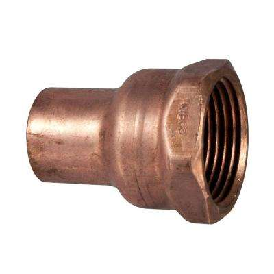 1/2 in. x 3/4 in. Copper Pressure Cup x FIPT Female Adapter