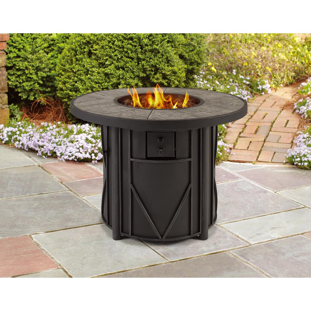 Hampton Bay Castle Hill Gas Fire Pit