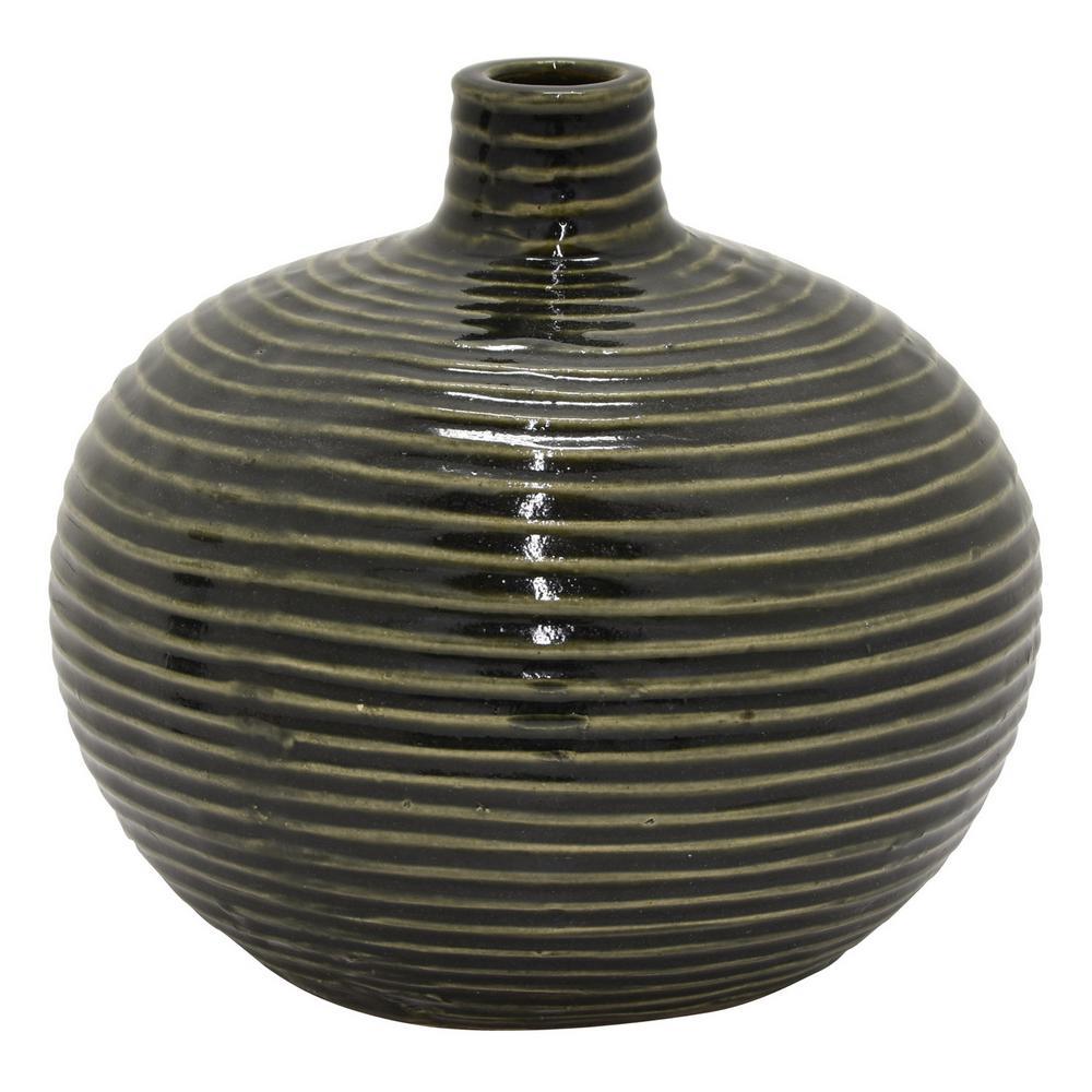6.5 in. Green Ceramic Vase