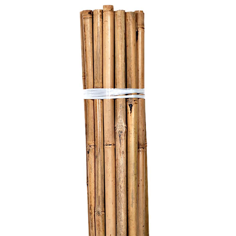 Grower's Edge Natural Bamboo 4 ft Bulk (100/Pack)