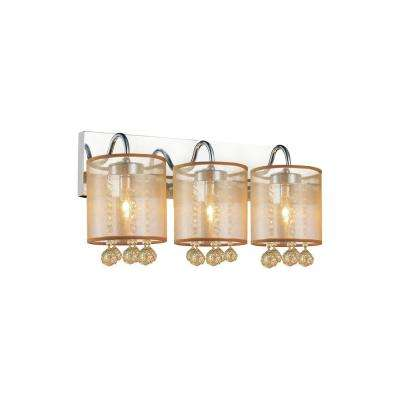 Radiant 3-Light Chrome Sconce