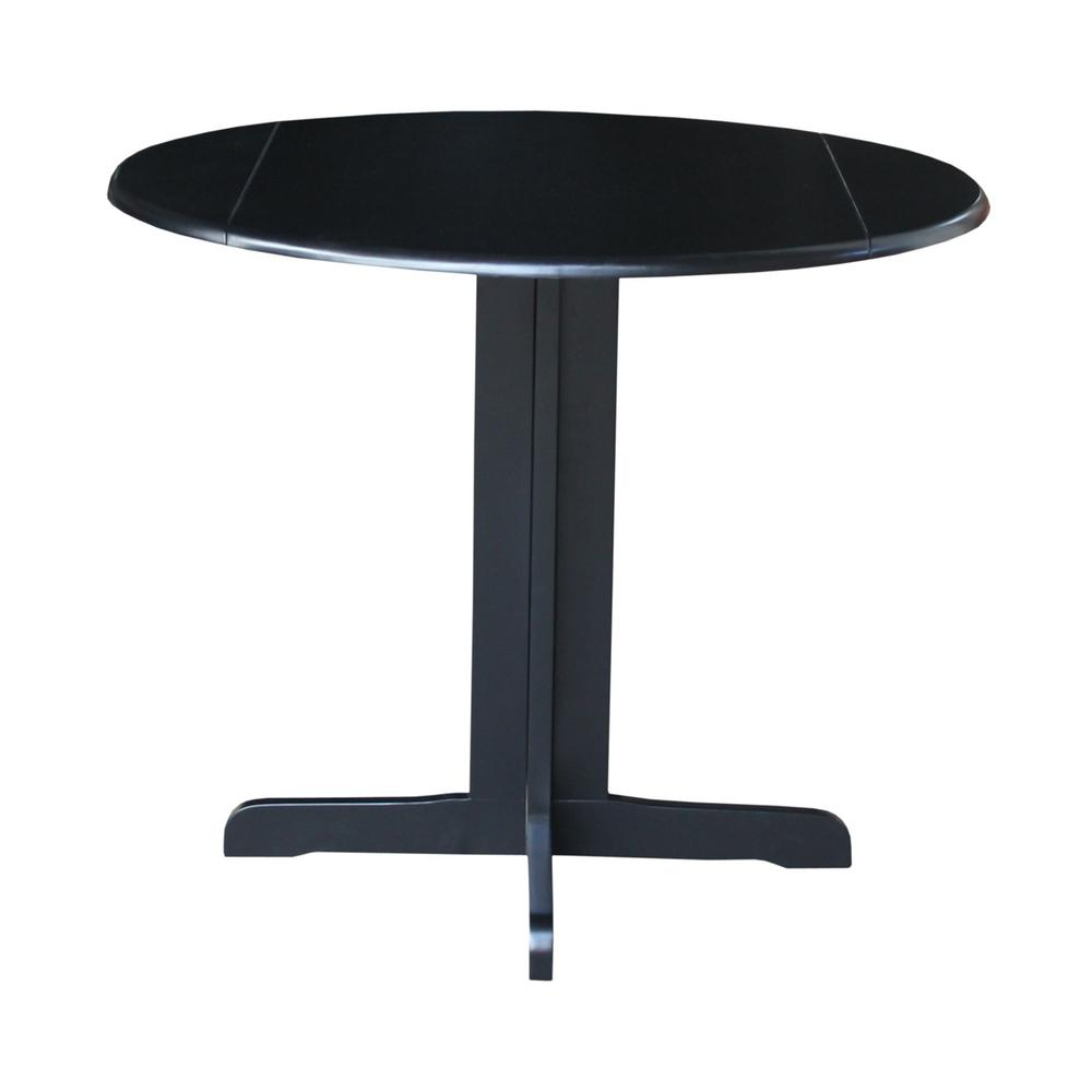 International Concepts Black Skirted Dining Table