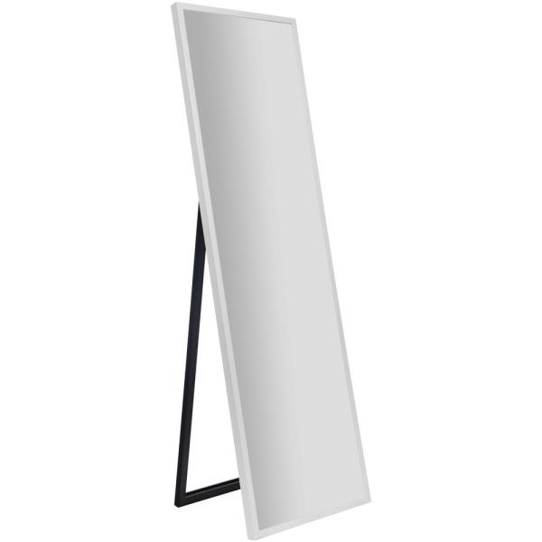 Rectangular White Floor Mirror