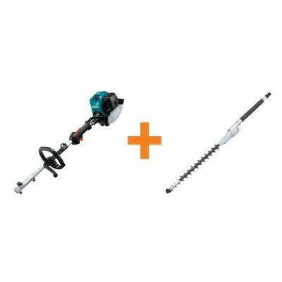 25.4 cc MM4 4-Stroke Couple Shaft Power Head and 20 in. Double-Sided Hedge Trimmer Couple Shaft Attachment