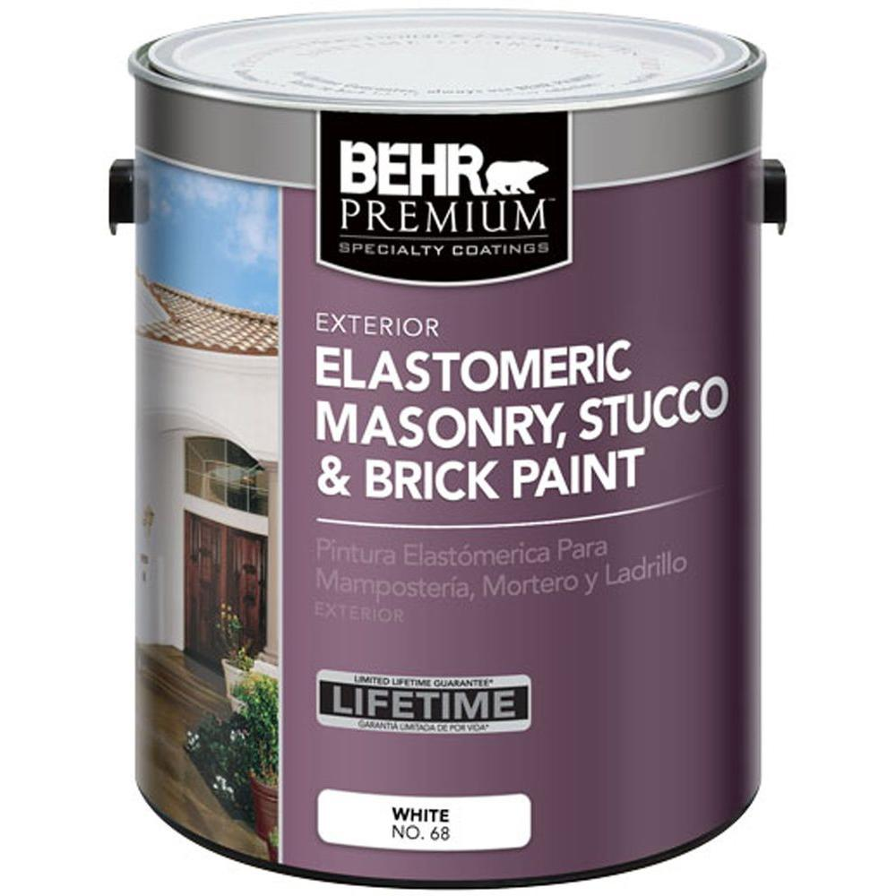 Behr Premium 1 Gal Elastomeric Masonry Stucco And Brick Paint
