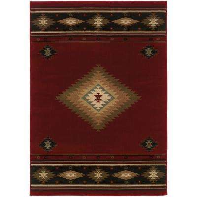 Catskill Red 5 ft. x 8 ft. Area Rug