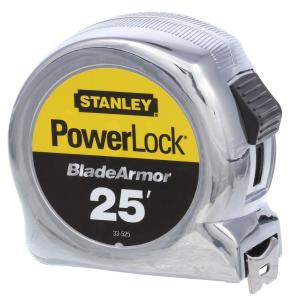 Stanley 25 ft. Powerlock Tape Measure with Blade Armor by Stanley