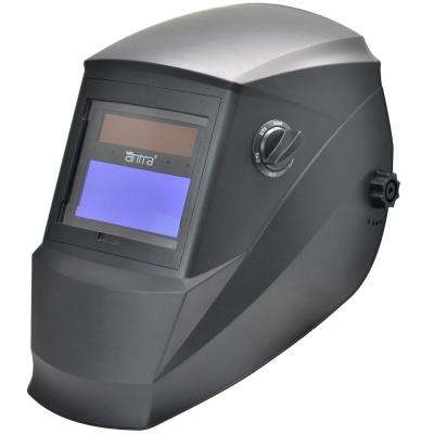 3.86 in. x 1.73 in. Solar Power Auto Darkening Welding Helmet with Viewing Size