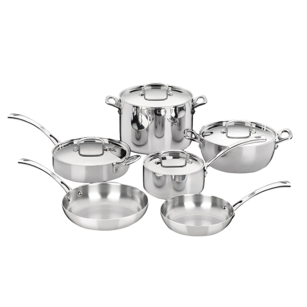 French Classic 10-Piece Stainless Cookware Set with Lids