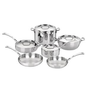 Cuisinart French Classic 10-Piece Stainless Cookware Set with Lids by Cuisinart