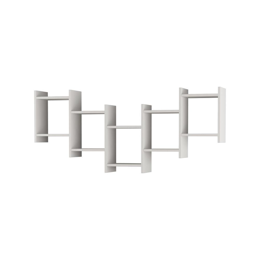 Ada Home Decor Willett White Modern Wall Shelf DCRW2231
